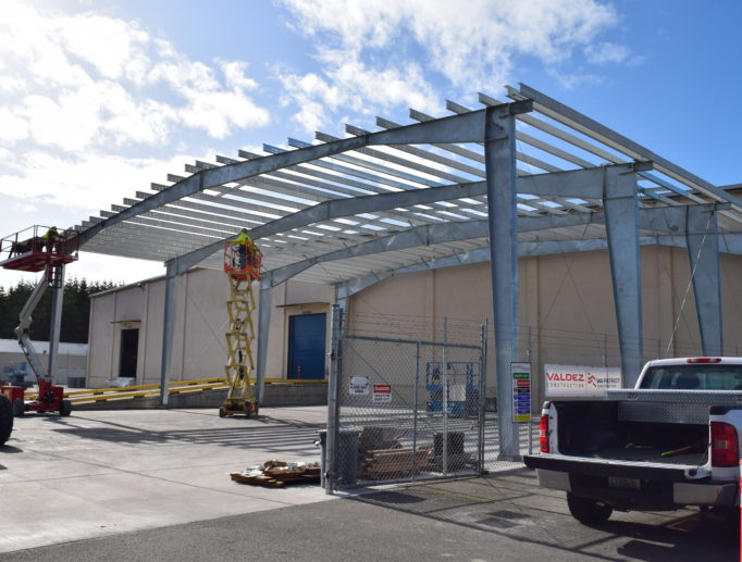 Covered Box Storage Steel Building at NAS Whidbey