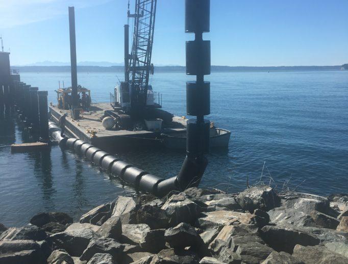 HDPE Debris Deflector at Naval Station Everett